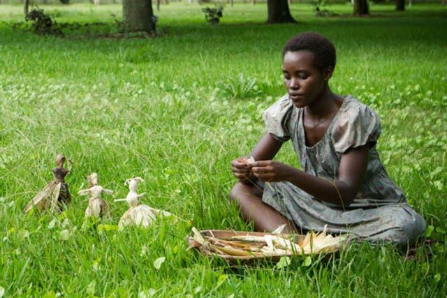 Lupita Nyong''o en 12 años de esclavitud, nada menos que su debut actoral