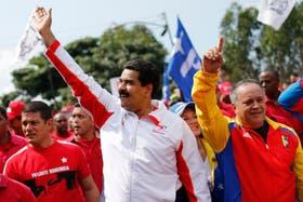 Maduro y Cabello, en la marcha en la que revelaron los supuestos planes en su contra, el miércoles