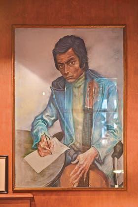 Una pintura. Retratado por Antonio Berni, en 1975