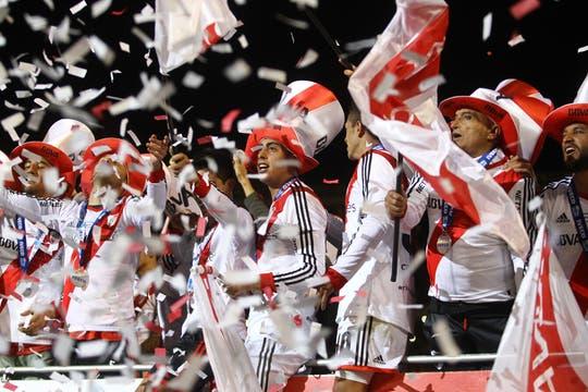 Los festejos de River campeón del Torneo Final. Foto: LA NACION / Mauro Alfieri