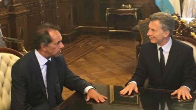 Scioli visita hoy al presidente Macri