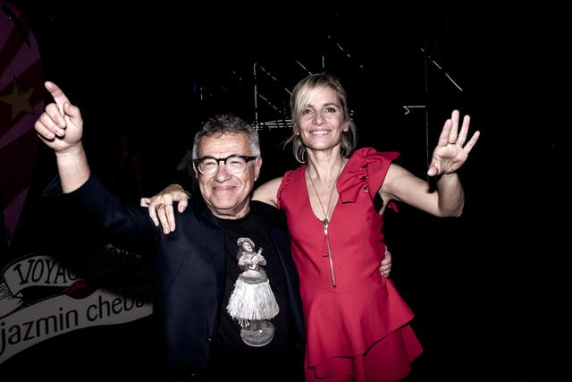 Claudio Drescher y Jazmín Chebar
