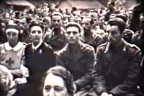 Francesco Brambilla en 1942, antes de partir al frente ruso en la Segunda Guerra Mundial