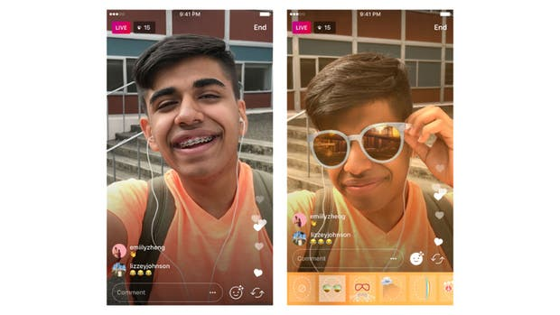 Instagram anuncia que los filtros faciales estarán disponibles para los directos