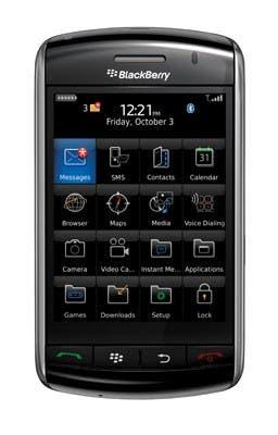 La interfaz del móvil BlackBerry Storm