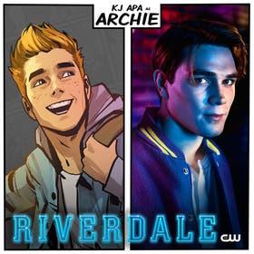 Antes y después: Archie en cómic, y Archie interpretado por KJ Apa