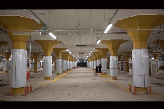 Pronto la ciudad tendra una terminal subterránea para combis, por donde pasarán unos 50.000 pasajeros por día. Foto: LA NACION / Fernando Massobrio
