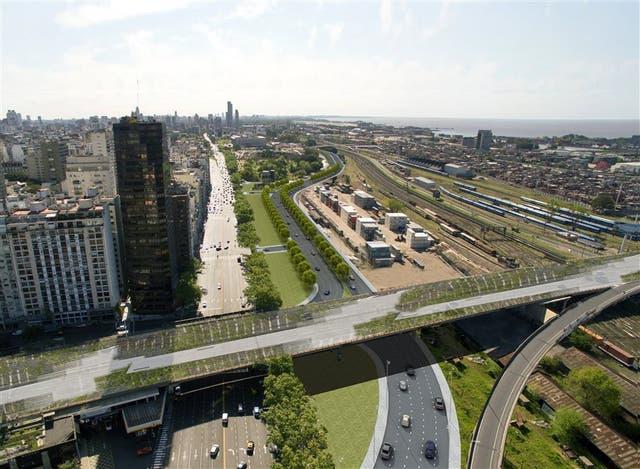 Principios 2018: a la nueva traza se accederá desde Carlos Pellegrini y Libertador; la vieja será un parque lineal