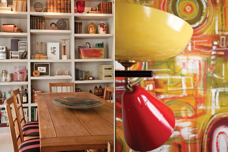 la zona de comer est equipada con una mesa de cedro y un juego de sillas