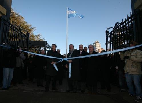 Con dirigentes del campo y la presencia de Mauricio Macri, se inauguró ofiicalmente la muestra. Foto: LA NACION / Ricardo Pristupluk