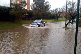 Así se veían las calles de Tigre, en provincia de Buenos Aires, esta tarde