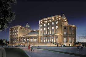La fachada representó un desafío para los restauradores por la cantidad de cornisas y ornatos