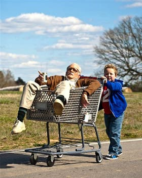 Johnny Knoxville y Jackson Nicoll