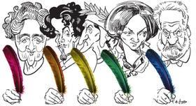 Agatha Christie, Gustavo Adolfo Bécquer, Dante Alighieri, Charlotte Brontë y Víctor Hugo