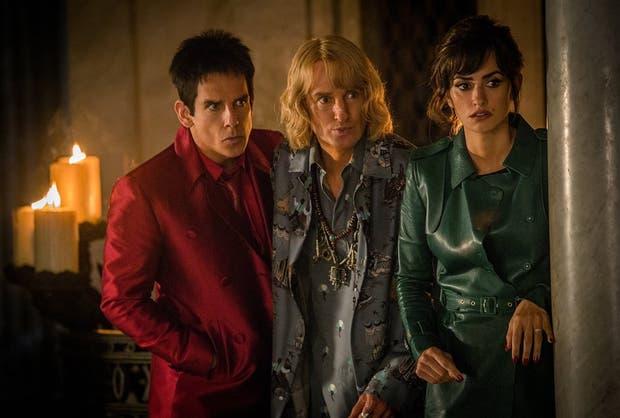 Ben Stiller, Owen Wilson y Penélope Cruz