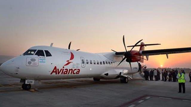 El avión de Avianca, al salir de Tucumán