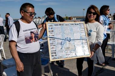 Entregaron un reconocimiento a los familiares de los 44 tripulantes del ARA San Juan