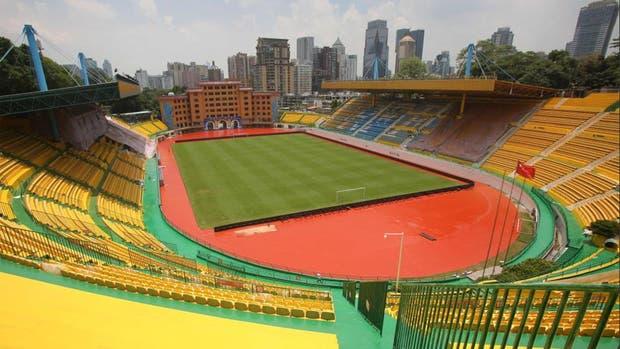 Así quedó el estadio del Guangzhou