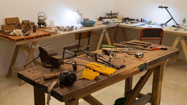 Garrido-Lecca instaló un taller en la planta baja del Malba