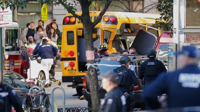 Alarma en Manhattan por un automovilista que atropelló a varias personas. Foto: AP / Bebeto Matthews