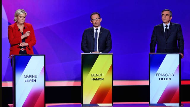Último debate presidencial en Francia de cara a las elecciones del domingo