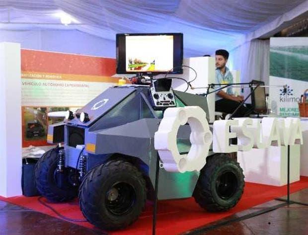 El vehículo agrícola autónomo de la firma Eslava