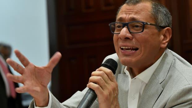 El vicepresidente ecuatoriano Jorge Glas solicitó a su partido político ser apartado de sus funciones