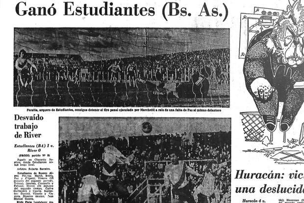 El diario del 24 de julio de 1978, tras el histórico triunfo de Estudiantes
