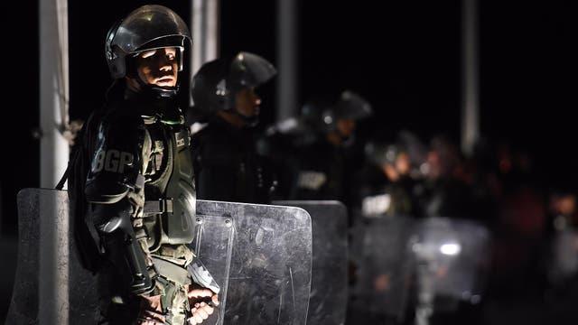 El palacio del Congreso en Brasilia fuertemente custodiado por la policía. Foto: AFP