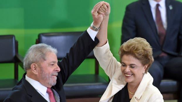 Dilma volvió a elogiar públicamente a Lula en su designación como jefe de Gabinete