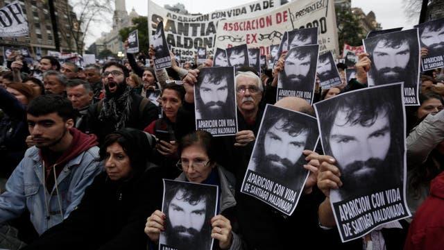 Una multitud reclamó la aparición con vida de Santiago Maldonado