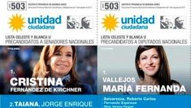 Cristina Kirchner y Fernanda Vallejos, candidatas de Unidad Ciudadana, no votan en la provincia