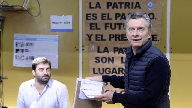 Mauricio Macri voto en Palermo