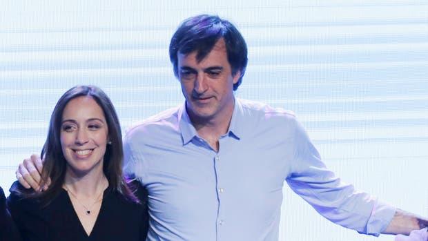 Vidal, junto a Esteban Bullrich