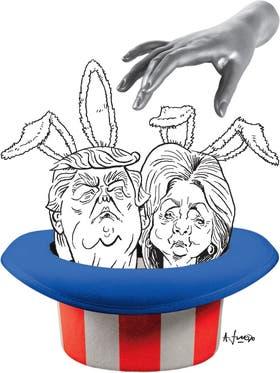 Hillary Clinton y Donald Trump definen quien será el nuevo presidente de EE.UU.