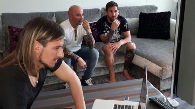 Así fue la reunión que mantuvieron en la casa de Messi, durante el primer viaje de Sampaoli a Europa