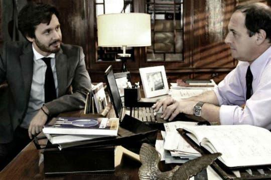 Junto a Benjamín Vicuña en su último e inolvidable papel televisivo, Guillermo Graziani en Farsantes. Foto: Archivo