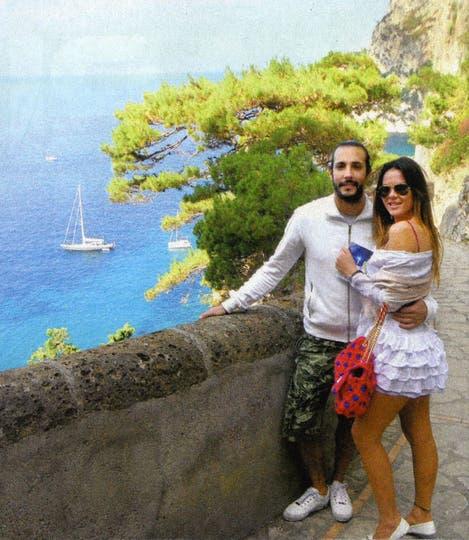 En 2012. La pareja en un viaje a Europa.. Foto: revista Gente