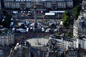 El show de la F1 en Trafalgare Square