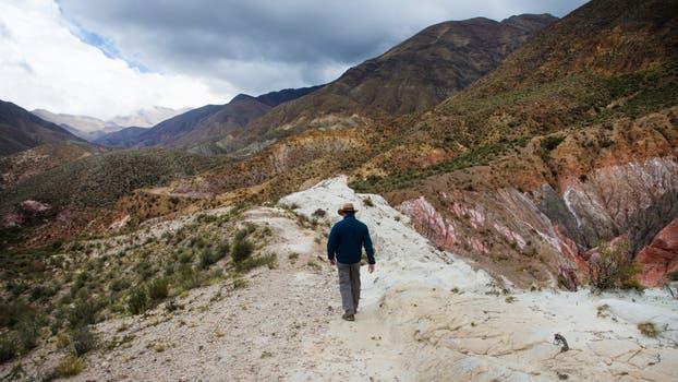 Los Pesebres, camino a la mina La Mejicana, en Famatina, La Rioja. Foto: LA NACION / Diego Lima / Enviado Especial