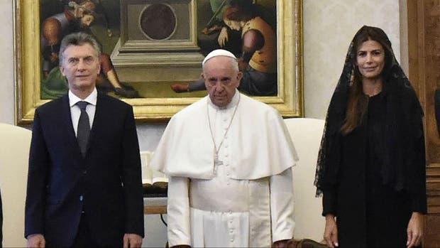 El Papa recibió a Macri y su esposa el 27 de febrero pasado