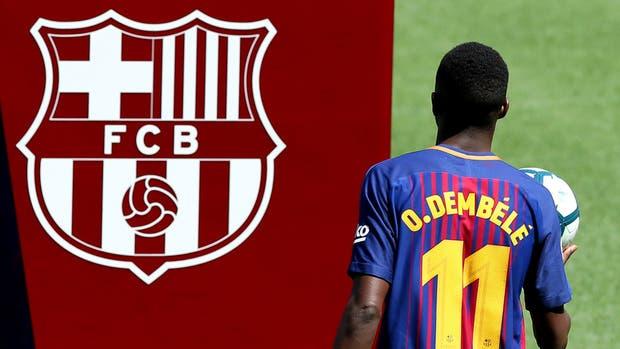 Barcelona recibió a Dembelé: