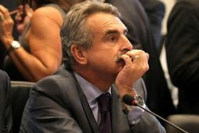 El diputado Agustín Rossi durante el debate en Comisión de la Cámara baja