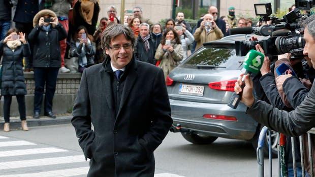 Puigdemont, en Bruselas, donde esperó la decisión de la Justicia española