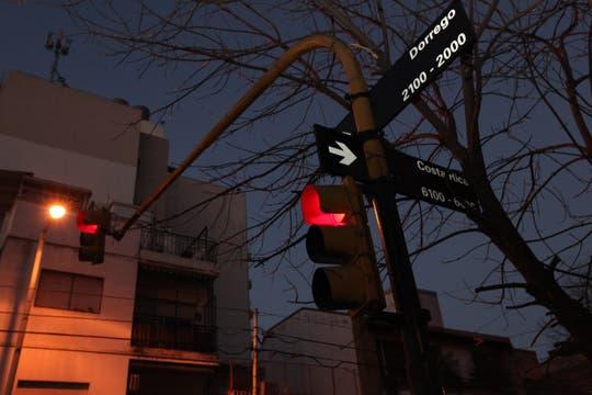 La esquina de Cramer y Dorrego, último lugar donde se la vio a Angeles con vida. Foto: LA NACION / Matías Aimar