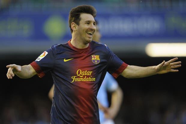 Messi festeja ante Celta, el último que le quedaba en la ronda