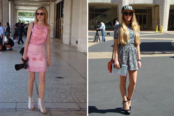 Un look muy Barbie por un lado y otra de gorrita para completar el look. Foto: Candelaria Palacios
