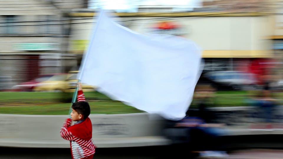Por las calles de Colombia sólo se hablaba del plebiscito. Foto: EFE / Leonardo Muñoz