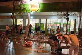 Disturbios en un supermercado Vea, en Tucumán