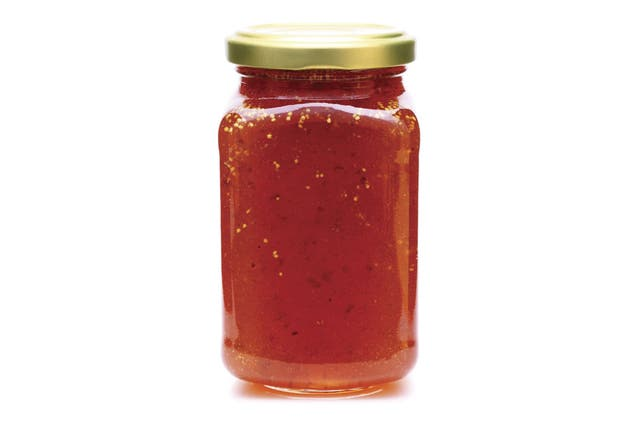 El el país una mermelada puede llegar a tener un 8% de fruta.